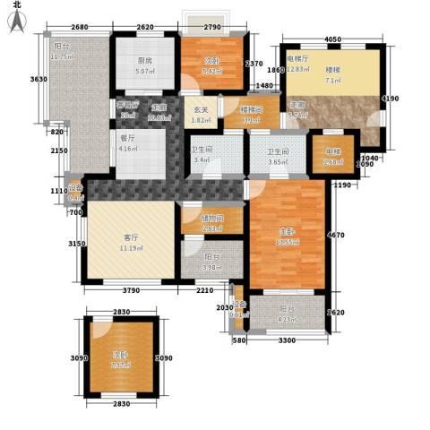 万科城3室1厅2卫1厨125.00㎡户型图