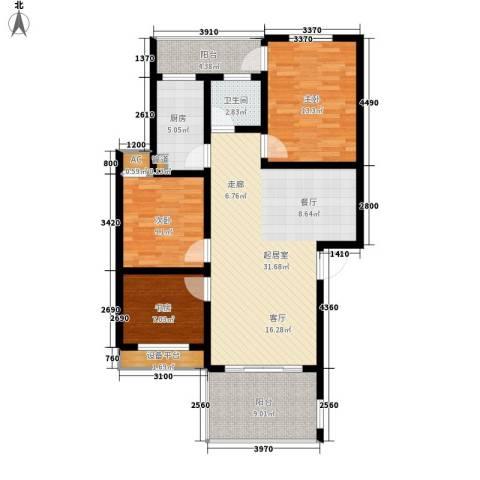 盛世康城3室0厅1卫1厨98.00㎡户型图