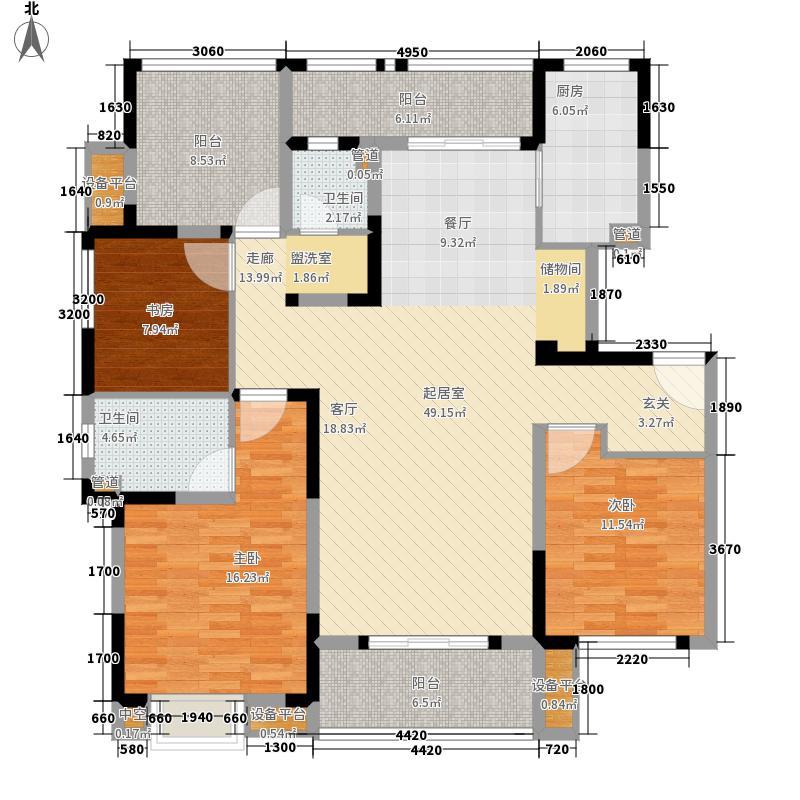金辉浅湾雅苑140.00㎡C1-1户型3室2厅