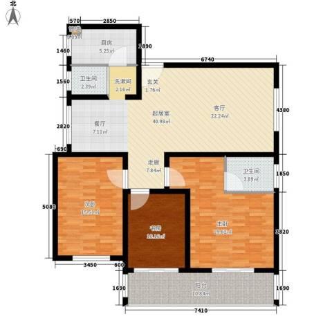 盛世康城3室0厅2卫1厨123.00㎡户型图