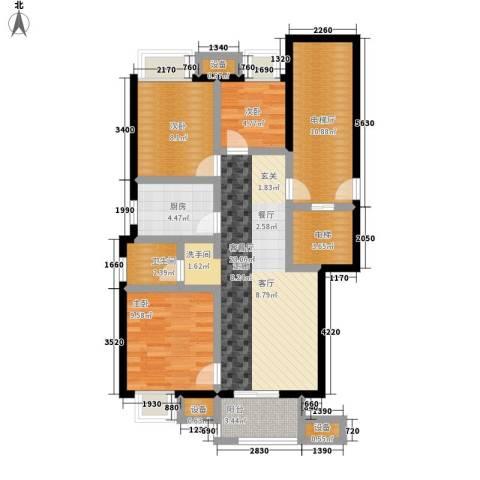 万科城3室1厅1卫1厨98.00㎡户型图