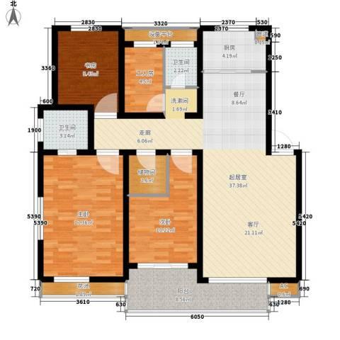 盛世康城3室0厅2卫1厨119.00㎡户型图