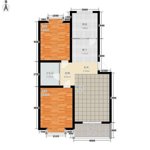 天建天华园2室0厅1卫1厨97.00㎡户型图