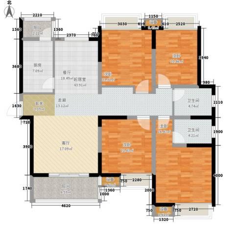 万国金色家园4室0厅2卫1厨139.00㎡户型图
