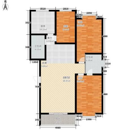 天建天华园3室0厅2卫1厨143.00㎡户型图