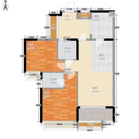 天御2室0厅2卫1厨99.00㎡户型图