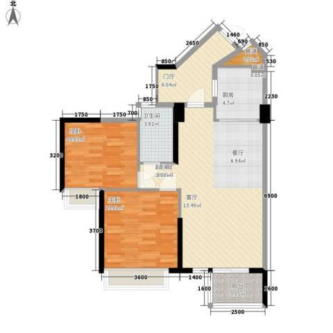 天御2室0厅1卫1厨86.00㎡户型图