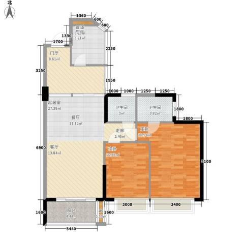 天御2室0厅2卫1厨98.00㎡户型图
