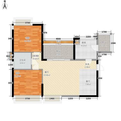 天御2室0厅1卫1厨96.00㎡户型图