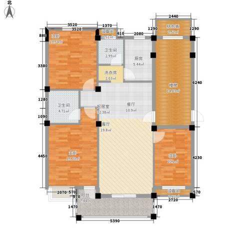 薇湖水岸3室0厅2卫1厨112.00㎡户型图