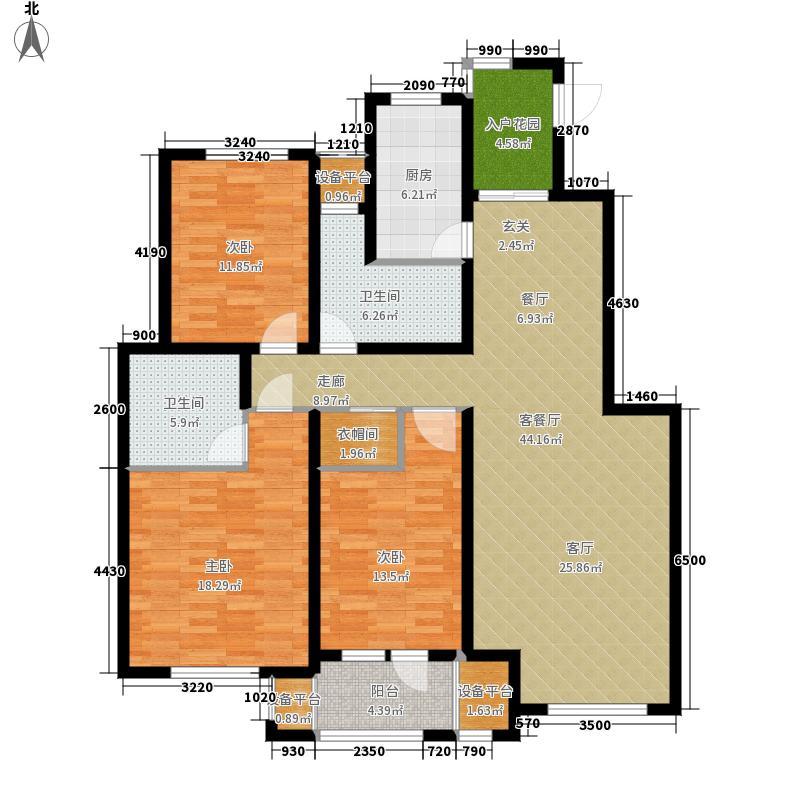 宏泰·美树138.00㎡宏泰・美树A3小高层标准层户型