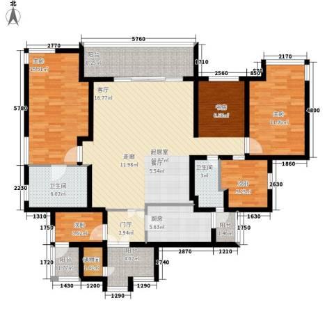 祈福水城4室0厅2卫1厨162.00㎡户型图