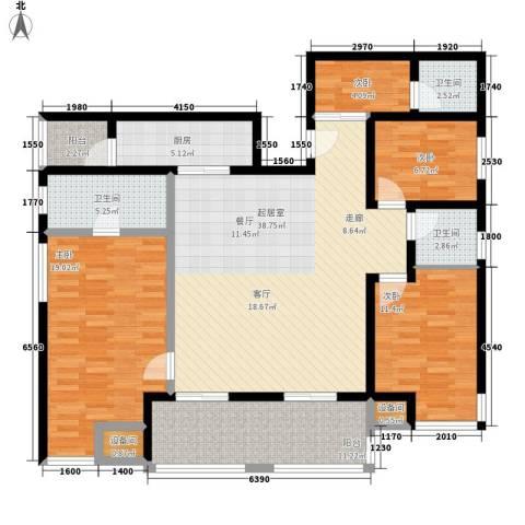 祈福水城4室0厅3卫1厨161.00㎡户型图