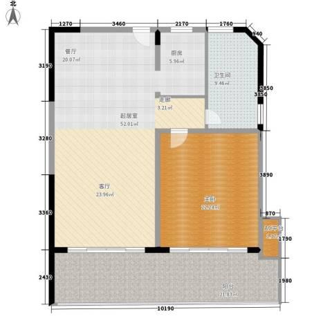 博鳌宝莲城1室0厅1卫0厨117.00㎡户型图