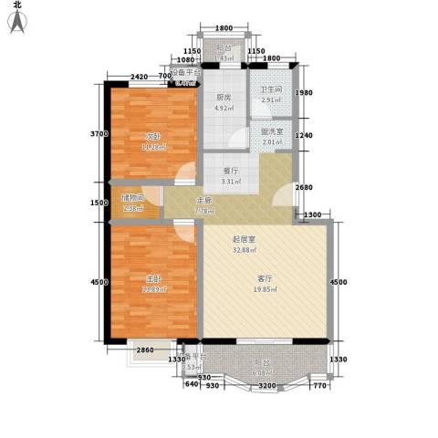 碧水云轩2室0厅1卫1厨111.00㎡户型图