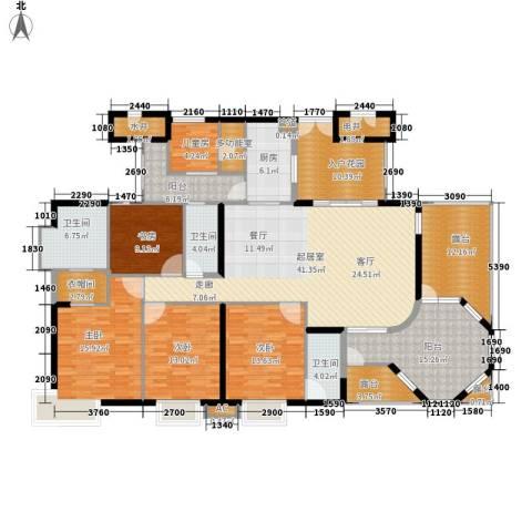 富力天河华庭5室0厅3卫1厨198.00㎡户型图