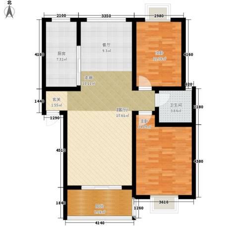 随县神龙湾2室1厅1卫1厨104.00㎡户型图