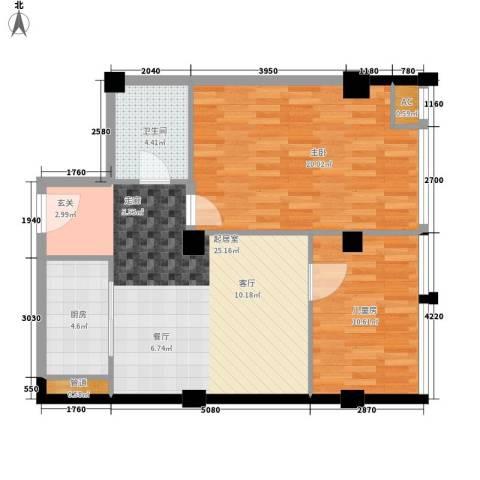 银星苑2室0厅1卫1厨74.00㎡户型图