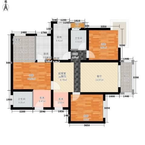 欣景苑2室0厅2卫2厨123.00㎡户型图