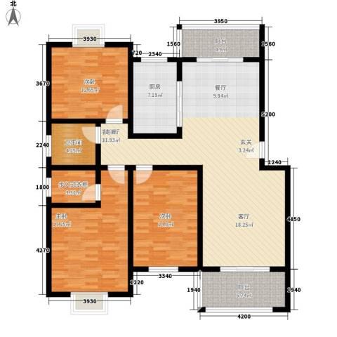 随县神龙湾3室1厅1卫1厨136.00㎡户型图