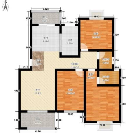 随县神龙湾3室1厅2卫1厨131.00㎡户型图