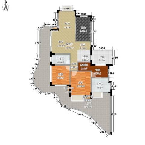 白金海岸3室1厅2卫1厨237.00㎡户型图