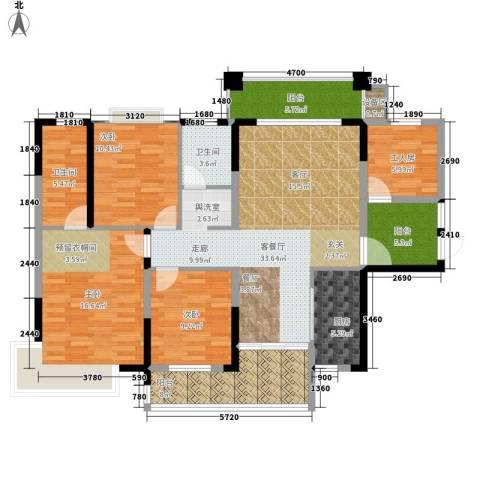 格澜郡3室1厅2卫1厨130.00㎡户型图