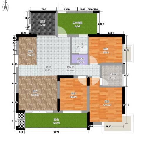 格澜郡3室0厅2卫1厨124.00㎡户型图