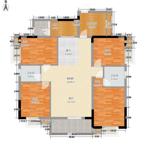 华侨城4室1厅2卫1厨166.00㎡户型图