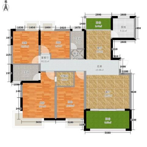 格澜郡4室1厅2卫1厨154.00㎡户型图
