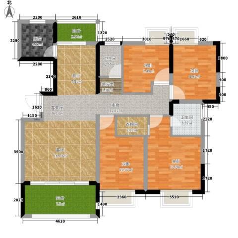 格澜郡4室1厅2卫1厨139.00㎡户型图