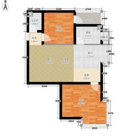 小悉尼自由岛2室0厅1卫1厨91.00㎡户型图