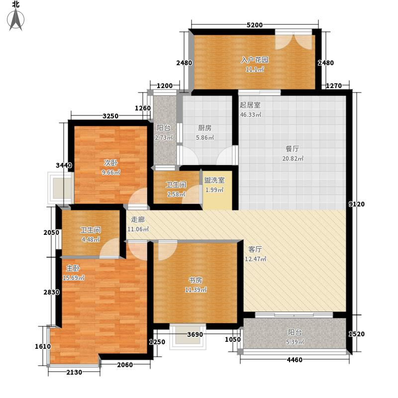 美林景园130.18㎡22号楼面积13018m户型