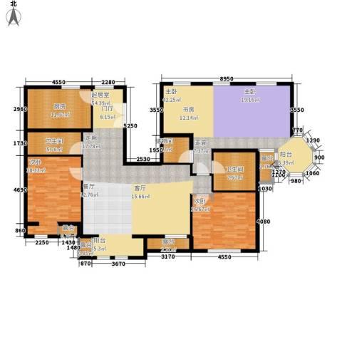 中海城圣朝菲3室0厅2卫1厨184.00㎡户型图