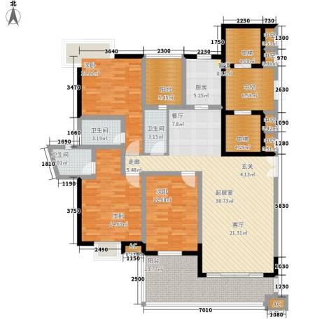 盛世名门3室0厅3卫1厨153.00㎡户型图