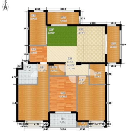 春天里3室0厅2卫1厨119.00㎡户型图