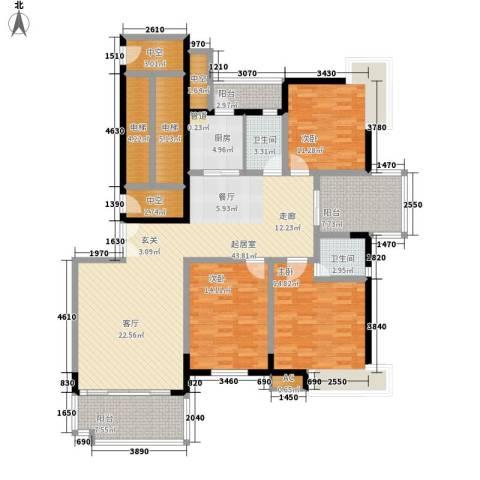 盛世名门3室0厅2卫1厨147.00㎡户型图