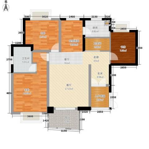 华融琴海湾3室0厅2卫1厨116.00㎡户型图