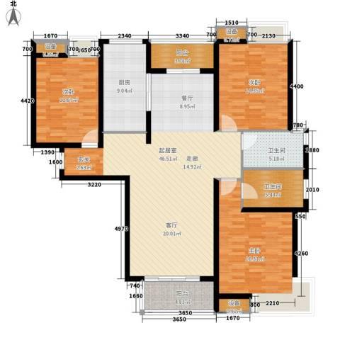 中建文化城3室0厅2卫1厨139.00㎡户型图