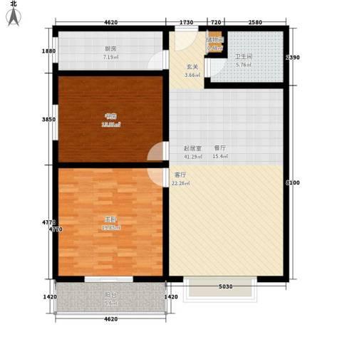 鑫和花园2室0厅1卫1厨110.00㎡户型图