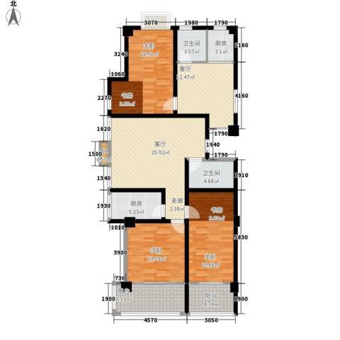 四季康城3室2厅2卫2厨113.45㎡户型图
