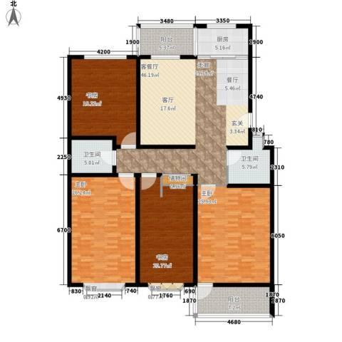 永达时代佳苑4室1厅2卫1厨188.00㎡户型图