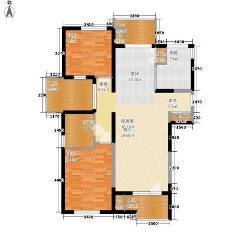 万科魅力之城2室0厅1卫1厨108.00㎡户型图