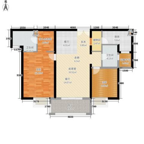 金桥瑞仕花园2室0厅2卫1厨107.00㎡户型图