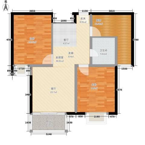 聚丰福邸2室0厅1卫1厨90.00㎡户型图