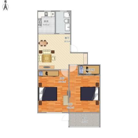 航华一村2室1厅1卫1厨94.00㎡户型图