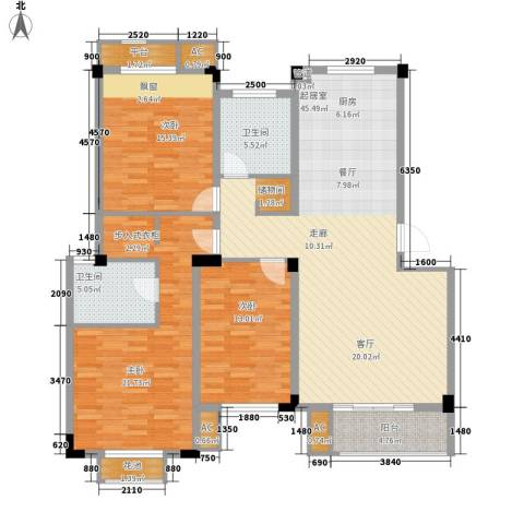 保亿・风景沁园3室0厅2卫0厨130.00㎡户型图