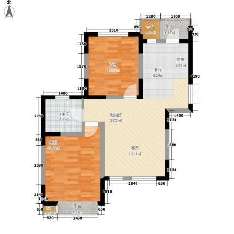枫尚河院2室1厅1卫0厨90.00㎡户型图