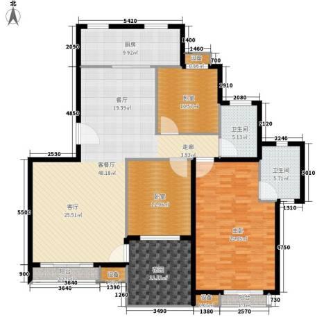 绿湖豪城1室1厅2卫1厨150.00㎡户型图