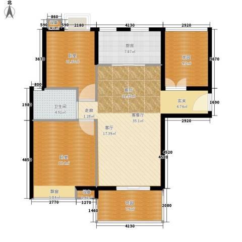 绿湖豪城1厅1卫1厨105.00㎡户型图